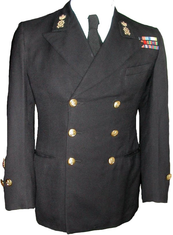 Blue Class I uniform jacket of a Chief Petty Officer Class 1 of the ...